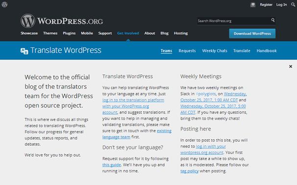 Перевести WordPress