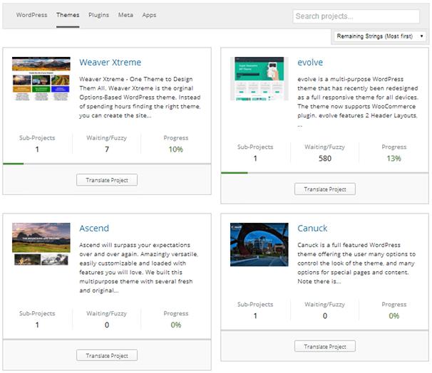 WordPress Темы Прогресс Перевод