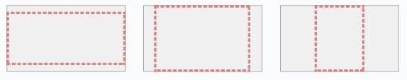 Серый фон для видео и красные черточки для окна просмотра