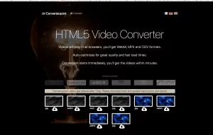 HTML 5 Фоновый видео конвертер и сжатие онлайн