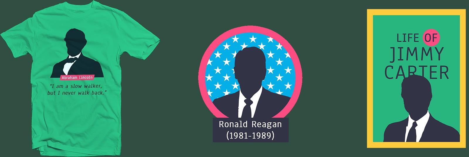 Набор силуэтов президентов США - Let's WP