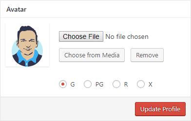 Выбор аватара в WordPress
