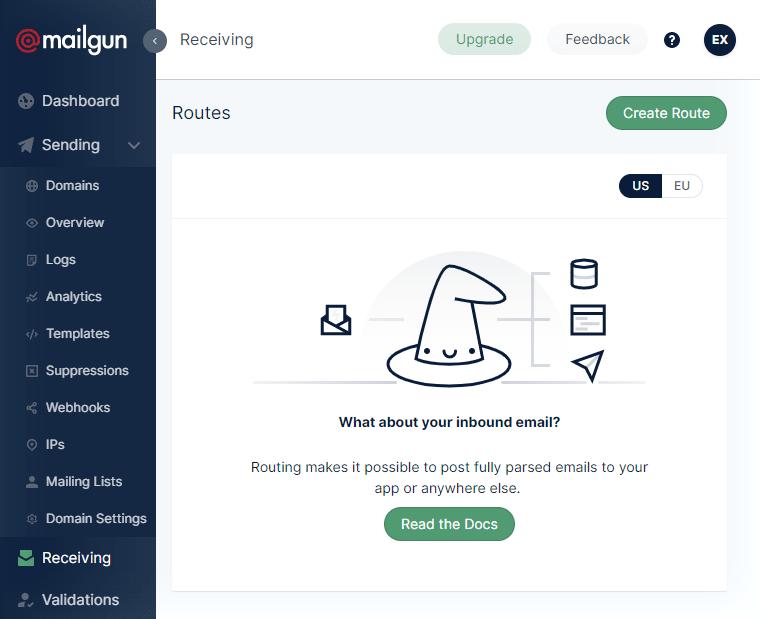Mailgun Route для пересылки электронной почты