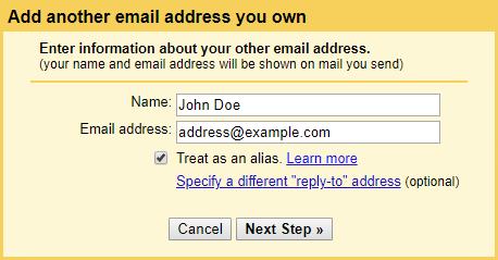 Добавить собственный адрес электронной почты домена в Gmail