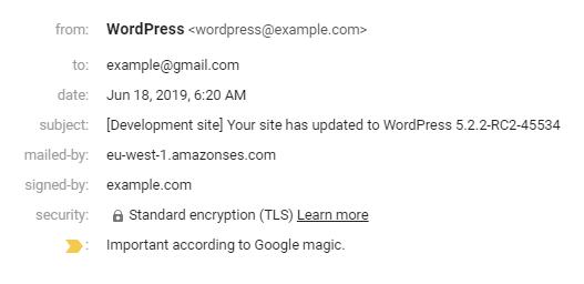 WordPress может отправлять электронную почту с Amazon EC2
