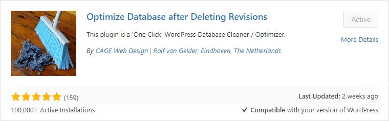 Оптимизация базы данных после удаления бесплатного плагина