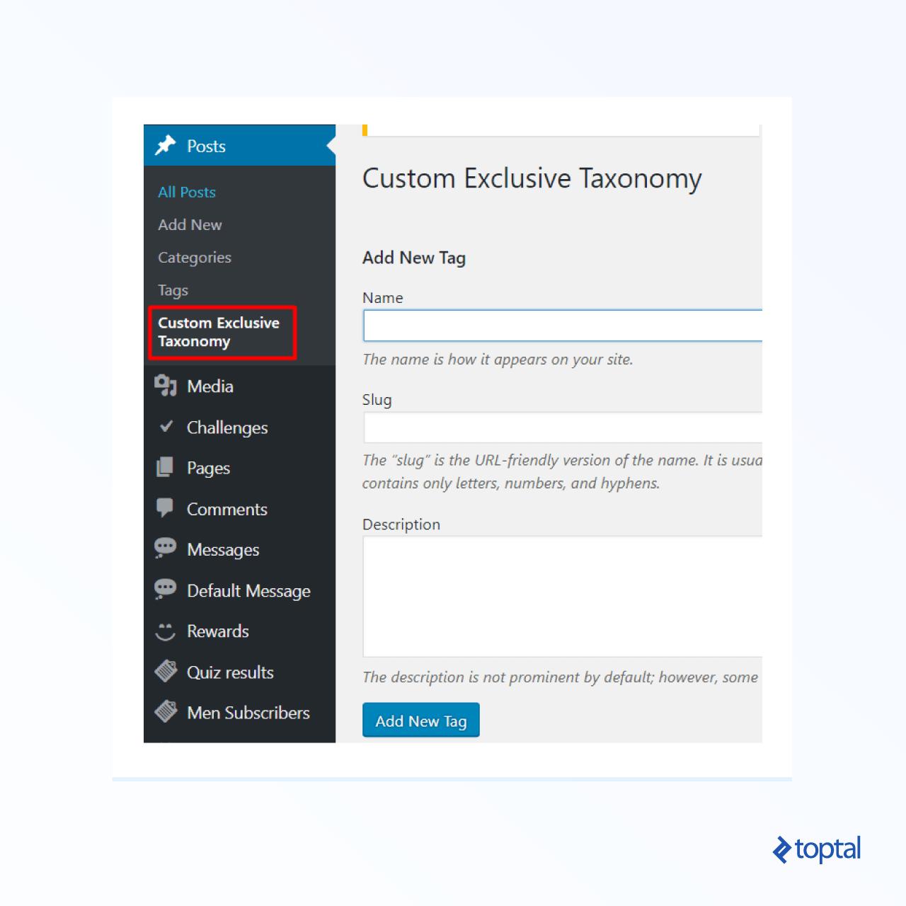 Снимок экрана: мета-бокс с именем Custom Exclusive Taxonomy с несколькими переключателями