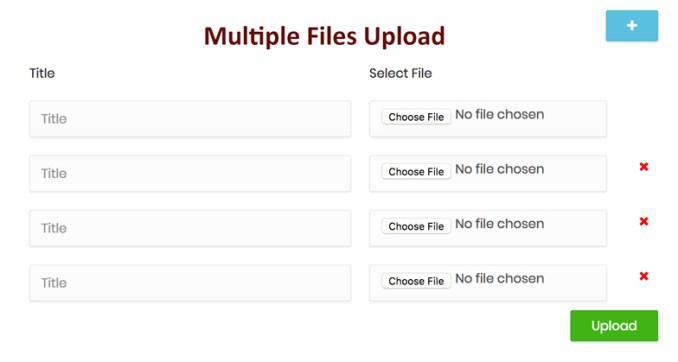 Загрузка нескольких файлов с использованием PHP