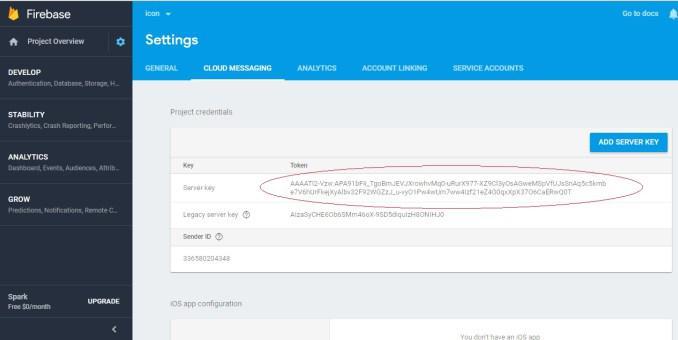 Отправить PUSH-уведомление с помощью Google FCM и PHP