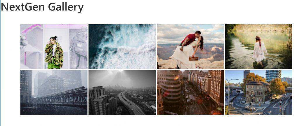 Галерея изображений Nextgen