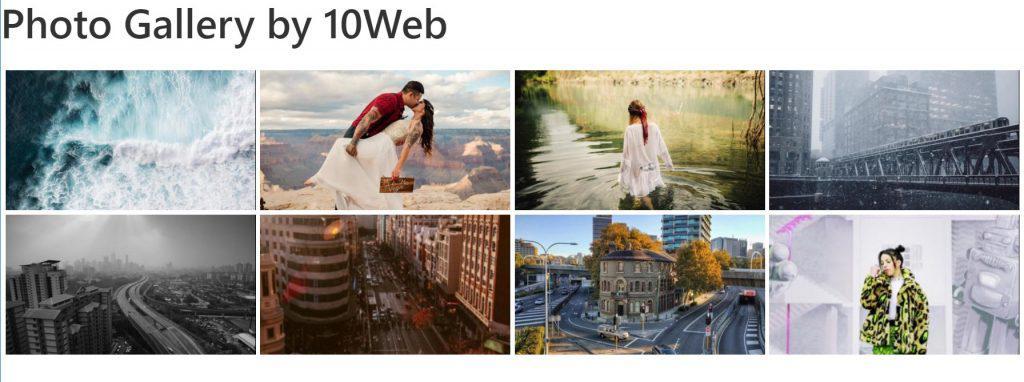 Плагин галереи изображений 10web