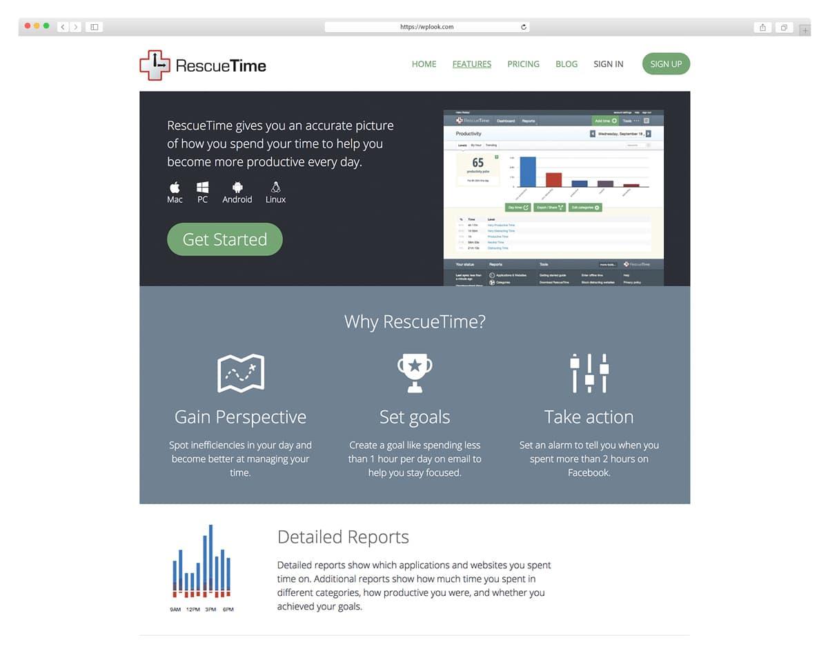 RescueTime - приложение для отслеживания