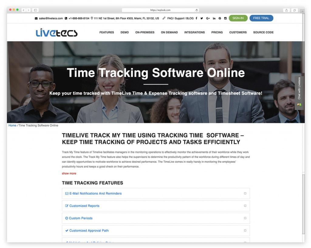 TimeLive - сетевое программное обеспечение расписаний
