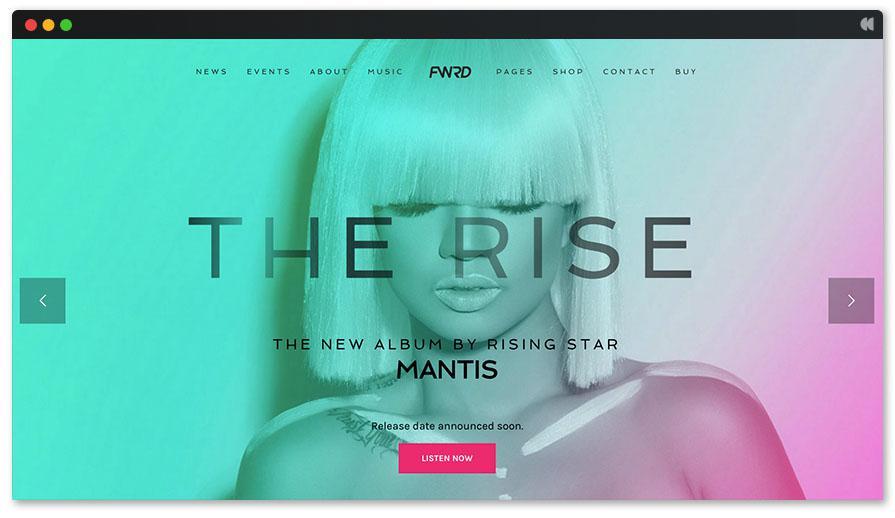 The Rise Отзывчивый Певец Тема WordPress