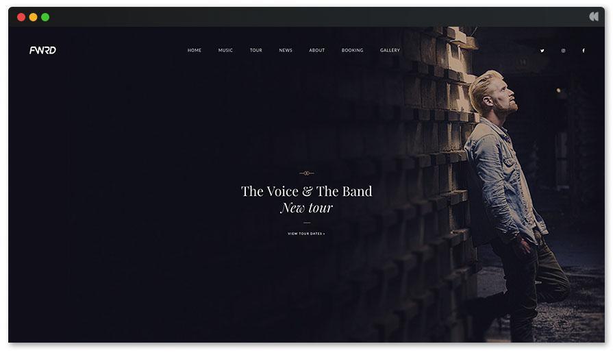 Тема «Голосовой певец» в WordPress