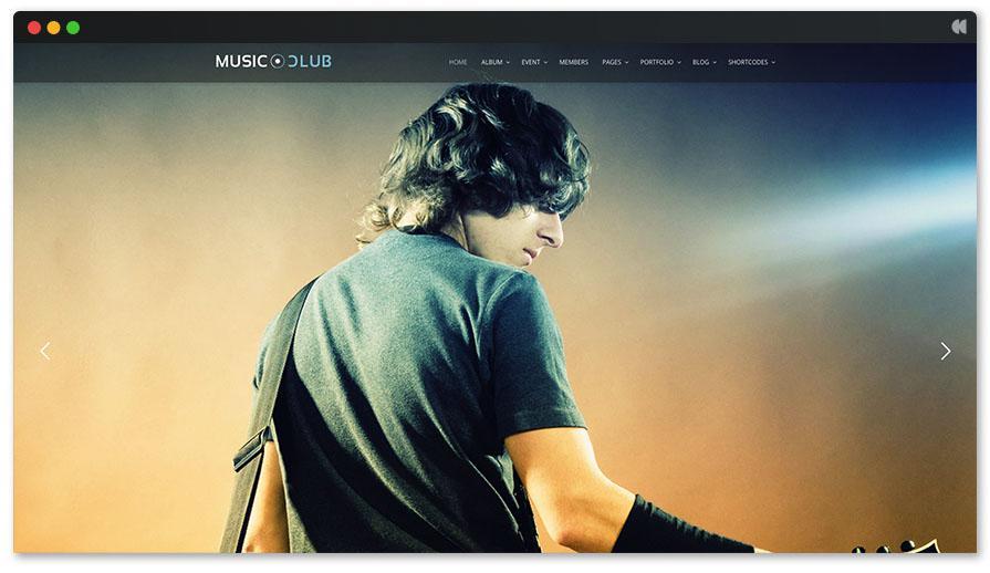 Музыкальный клуб Singer WP Theme