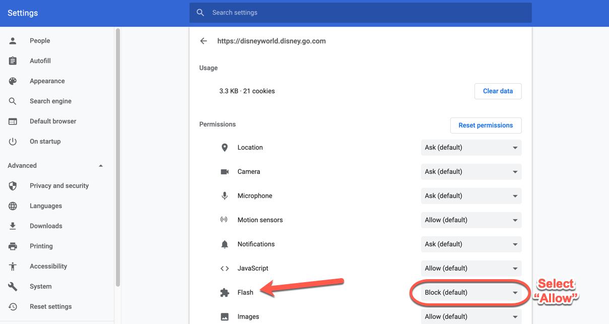 Как включить Adobe Flash Player в Google Chrome