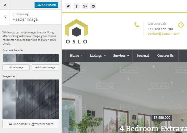 Oslo - Live Customizer - Заголовок изображения