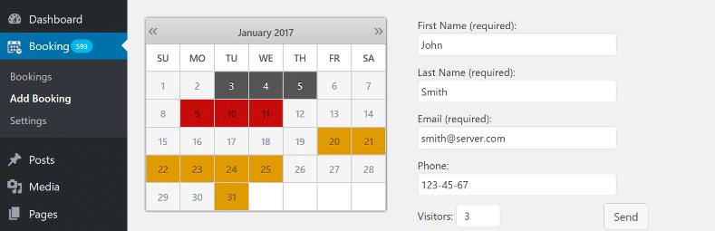 плагин календаря бронирования бесплатно