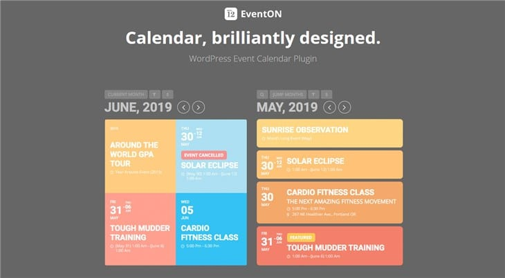 Eventon Календарь событий Плагин WordPress
