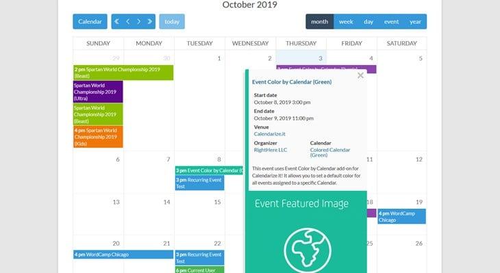 календарь это! плагинов WordPress календарь