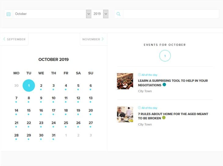 календарь современных событий