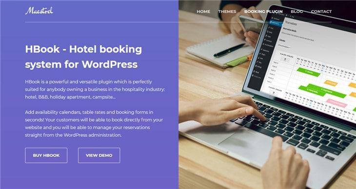 hbook бронирование отелей wordpress плагин