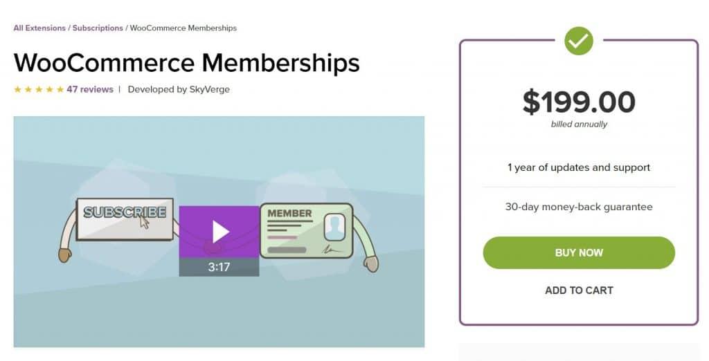 Плагин членства для членов WooCommerce WordPress