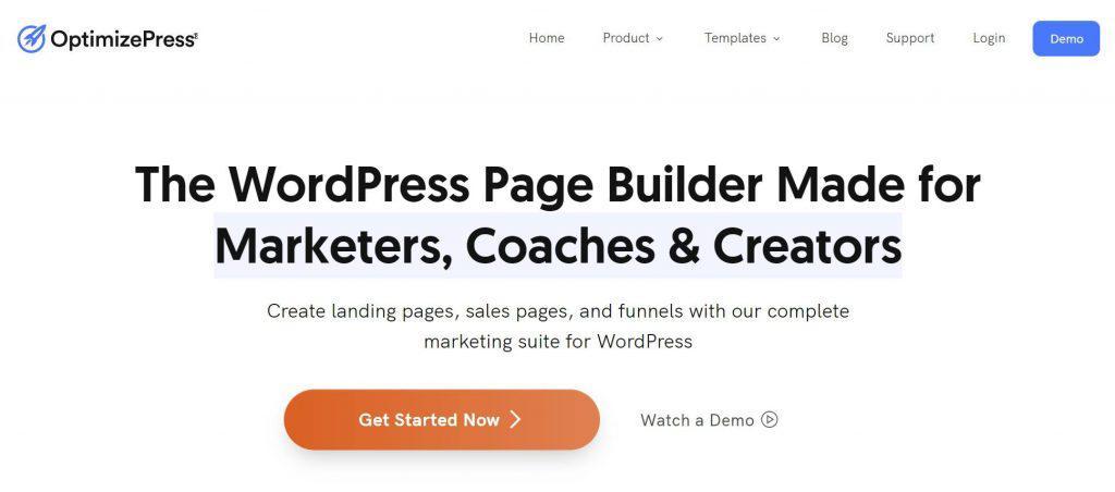OptimizePress Плагин для создания целевой страницы WordPress