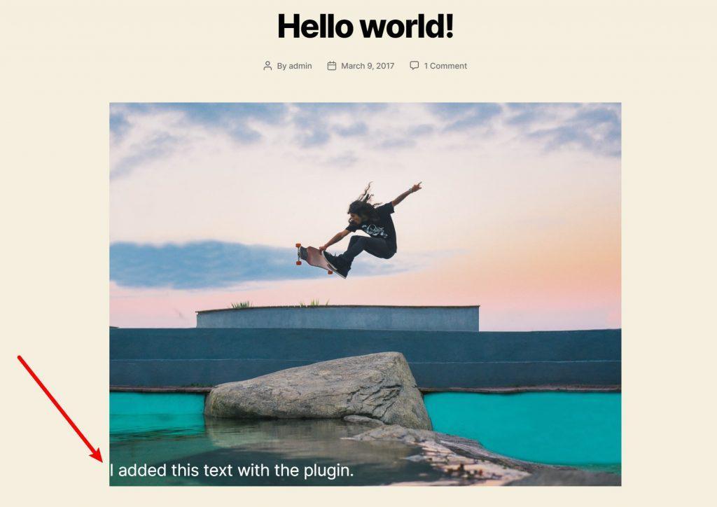 WordPress лучшее изображение с текстом