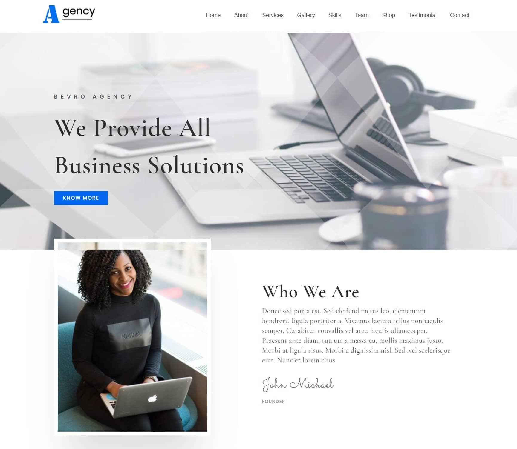 WordPress бизнес тема