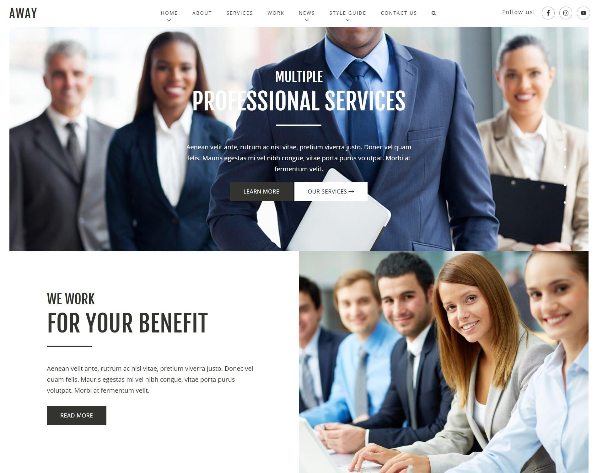 Обзор WordPress тем для бизнеса