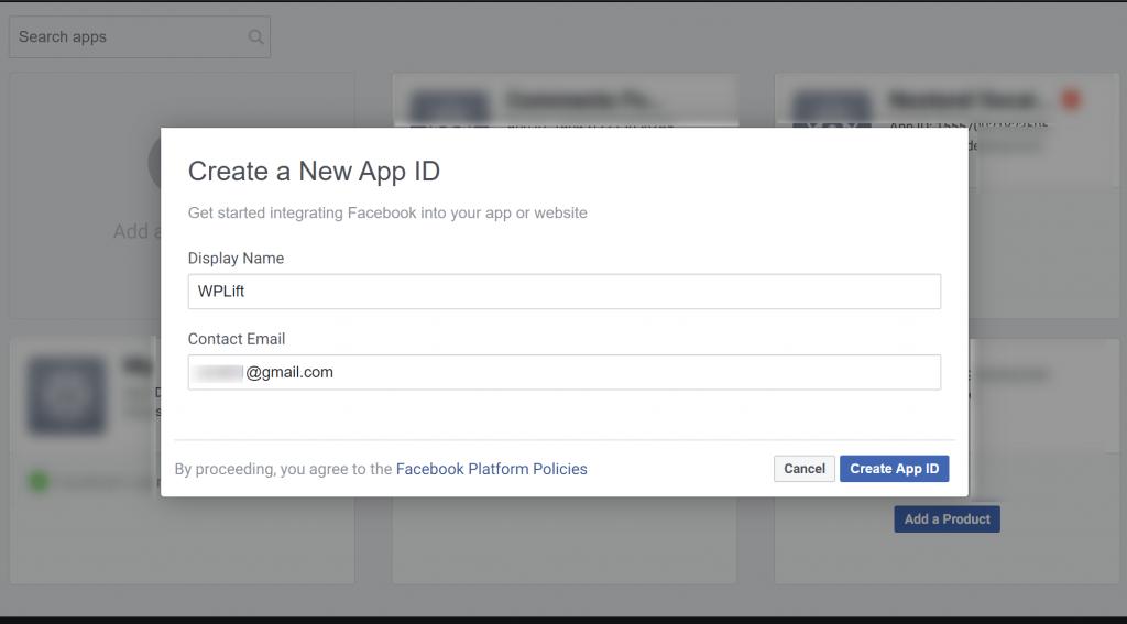 WordPress Social Login FB новый идентификатор приложения