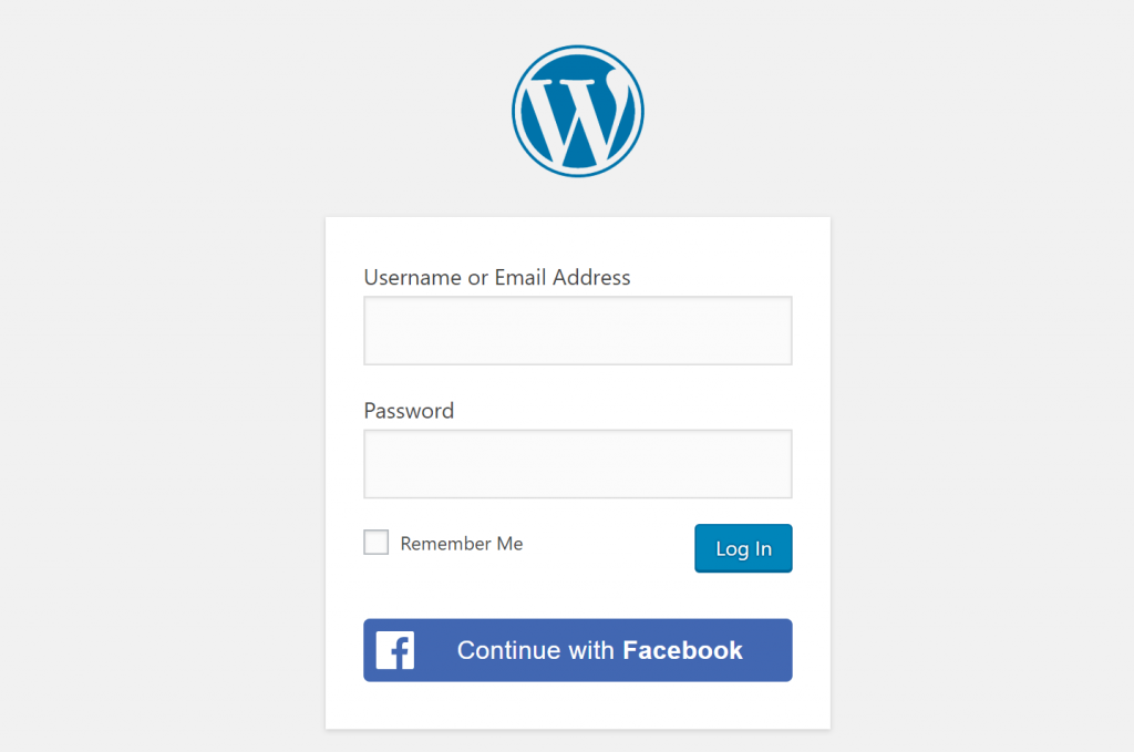 Facebook WordPress социальный вход