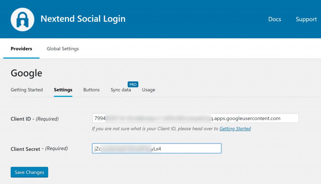 WordPress Социальный вход Nextend