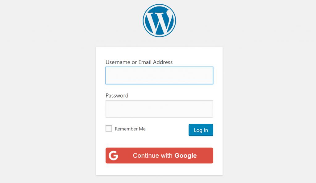 WordPress Социальный Войти Google