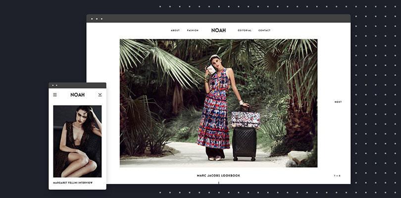 Ноа Бесплатная тема WordPress фотографии