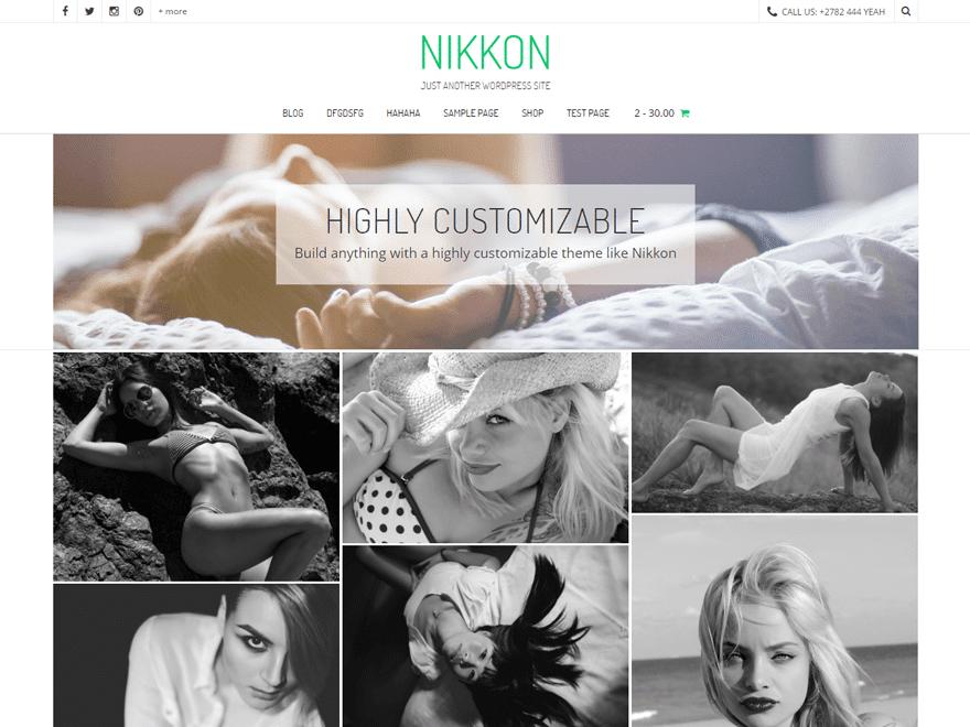 nikkon бесплатная тема фотографии