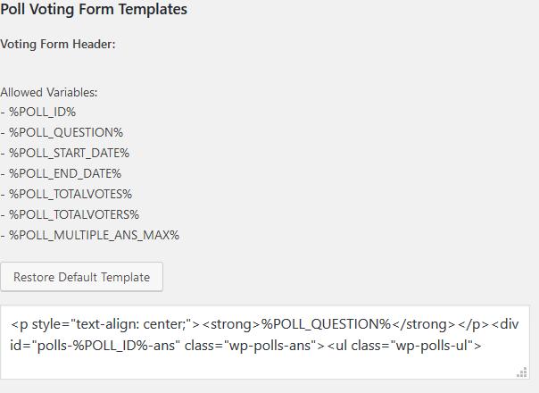 wp-poll шаблоны
