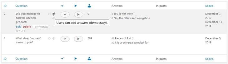 список опросов демократии