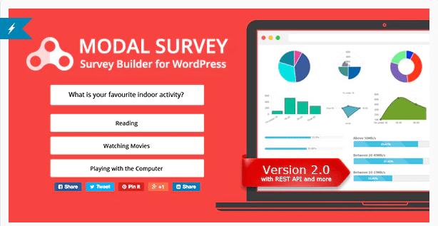 модальный опрос плагин WordPress опрос