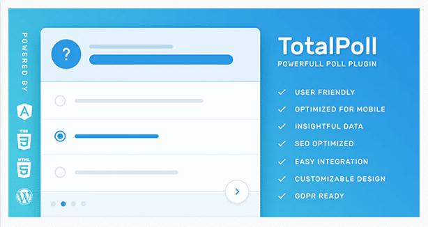 TotalPoll Pro WordPress плагин для опросов
