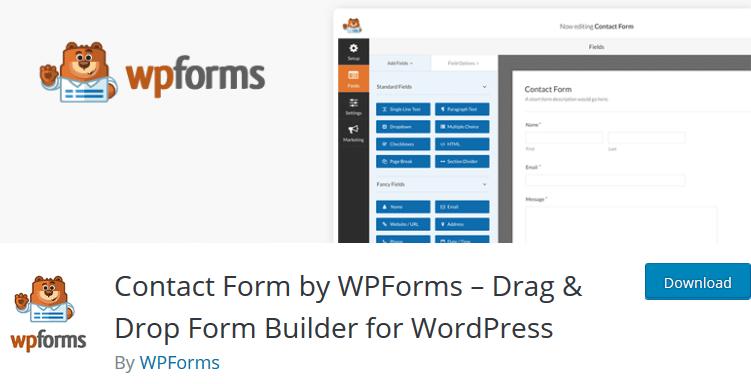 Контактная форма от WPForms Drag Drop Form Builder для WordPress плагин WordPress опрос