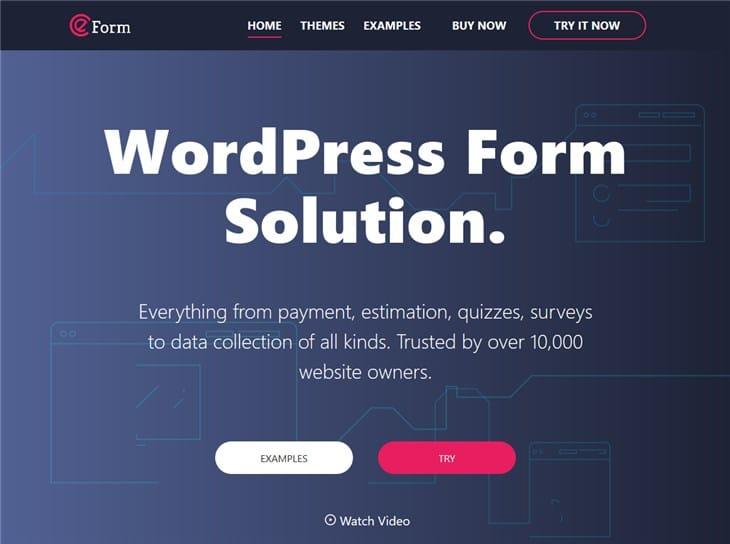 eform wp form plugin плагин для WordPress
