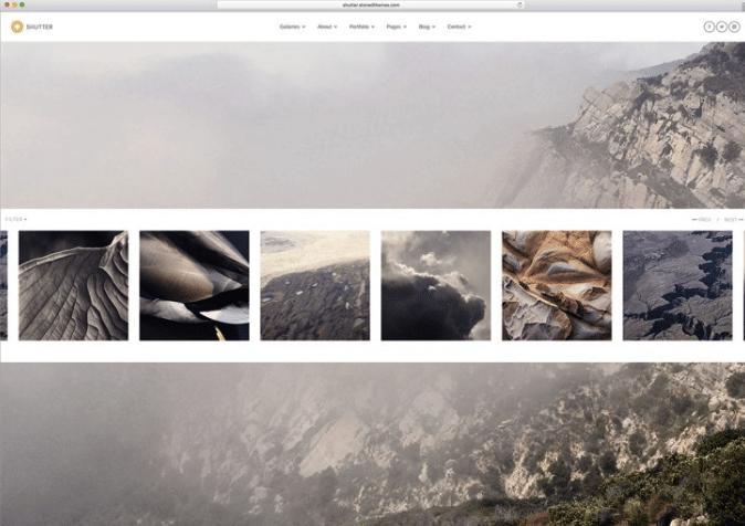 затвора тема фотографии WordPress