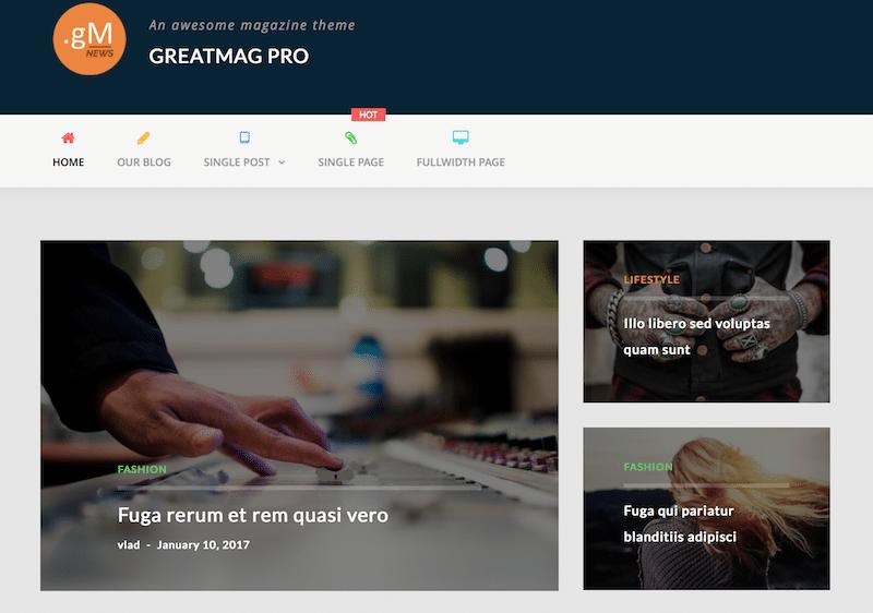 WordPress блог темы
