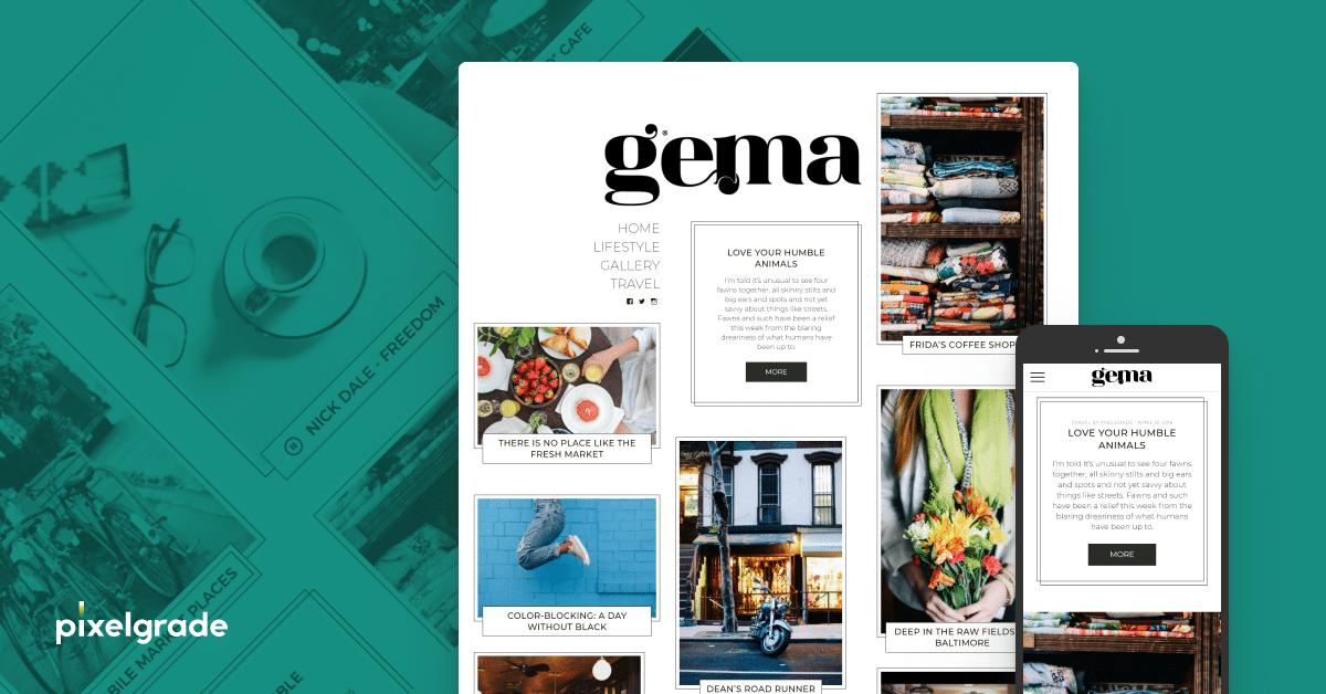тема личного блога gema