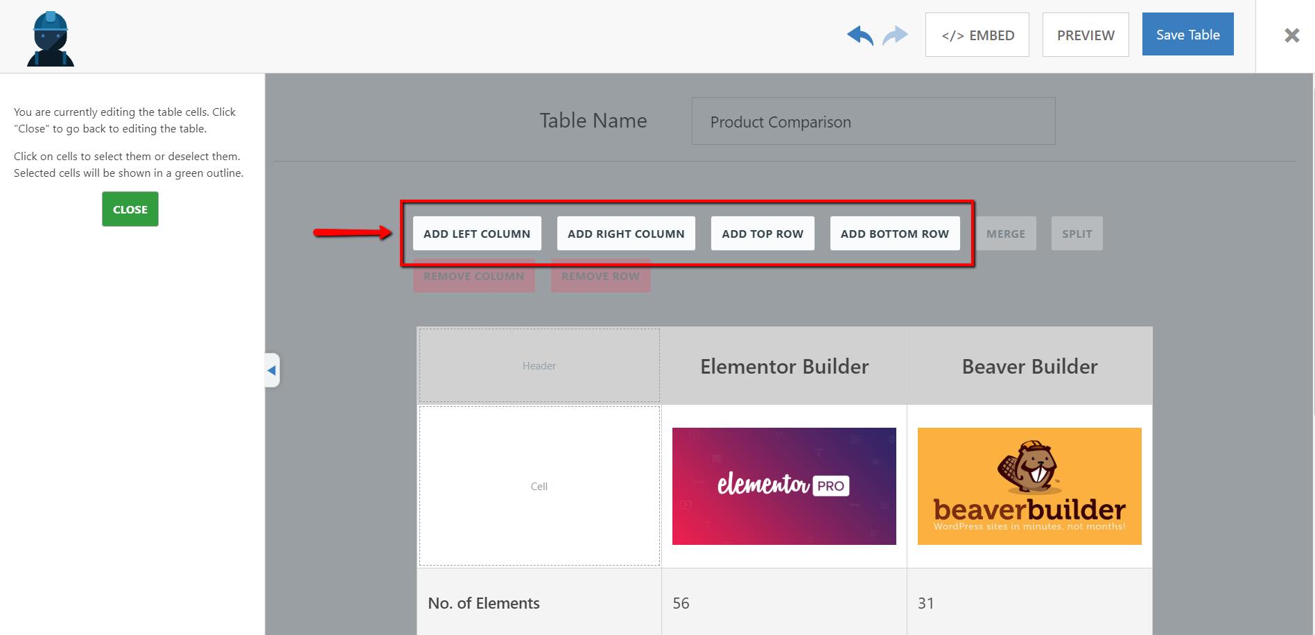 Как бесплатно создать таблицу сравнения продуктов на WordPress при помощи плагина WP Table Builder