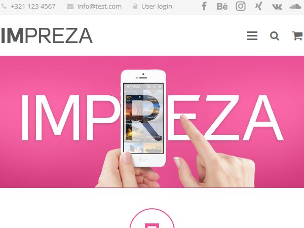 Многоцелевые темы WordPress - Impreza