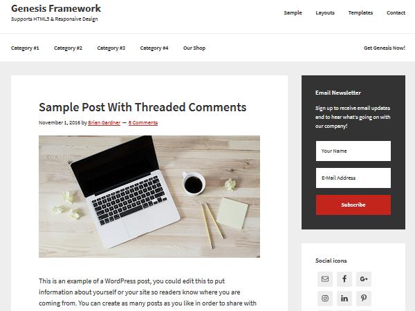 Многоцелевые темы WordPress - Genesis